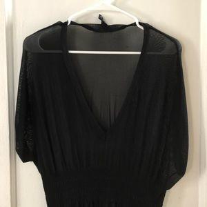 Black H&M Sheer top